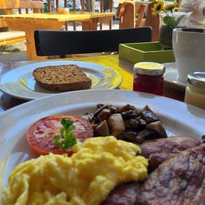 Breakfast at a Monday Restaurant Special